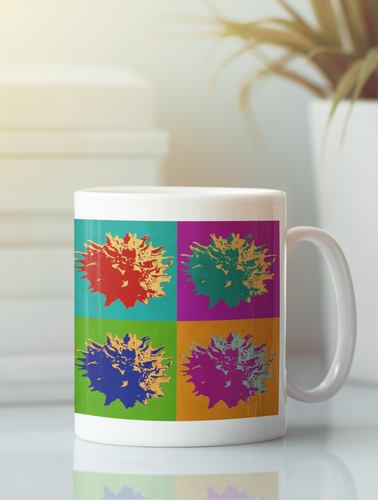 Sweet Gum Balls White Coffee Mug.