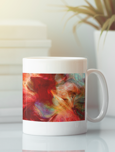 The Norsemen abstract pop art coffee mug.