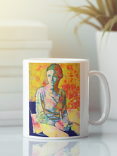 Load image into Gallery viewer, Mary Jane adolescent female pop art coffee mug.