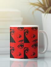 Load image into Gallery viewer, Portrait of Catherine Deneuve Pop Art Coffee Mug.