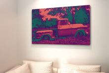 Load image into Gallery viewer, 1957 Chevrolet Apache Pickup truck canvas print.