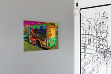 Load image into Gallery viewer, Coleman's milk truck pop art canvas print.