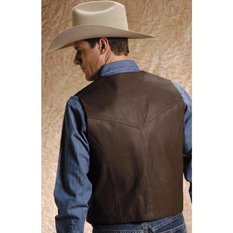 Image of BulletBlocker NIJ IIIA Bulletproof Leather Western Vest