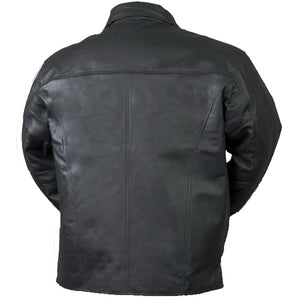 Bullet Blocker NIJ IIIA Bulletproof Leather Jacket