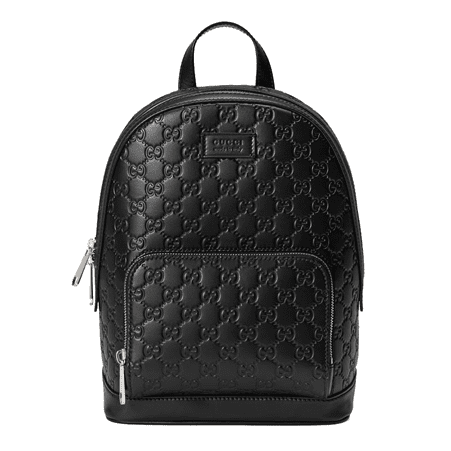 Image of Bullet Blocker Gucci Signature Leather Backpack