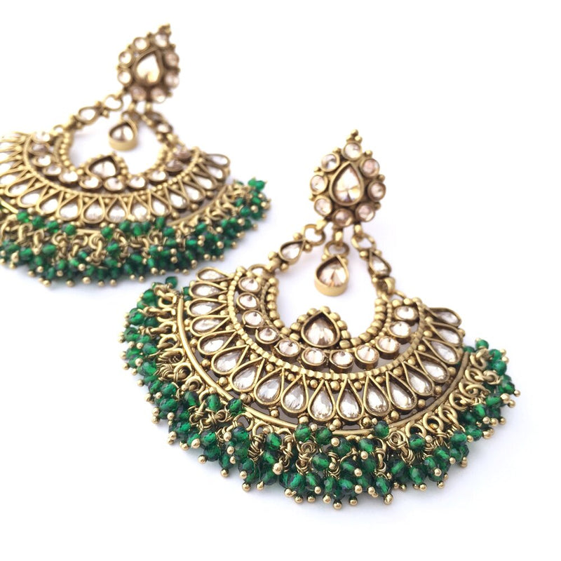 Jasmin Emerald Cluster Earrings
