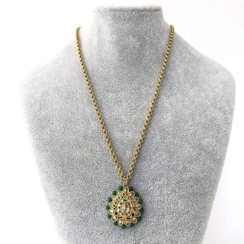 Emerald Edged Pendant