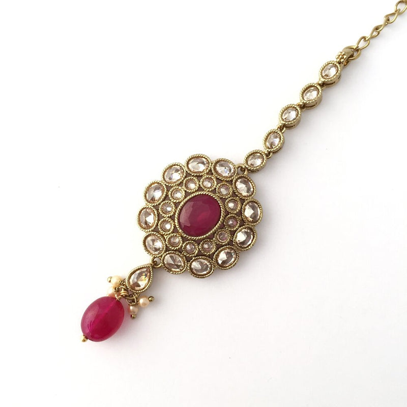 Layered Ruby Pendant Set