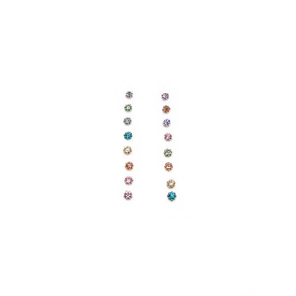Multi Pastel Crystal Bindi - 3mm