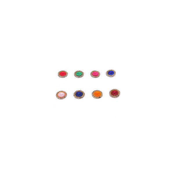Sunray Multi and Gold Bead Bindi - 9mm