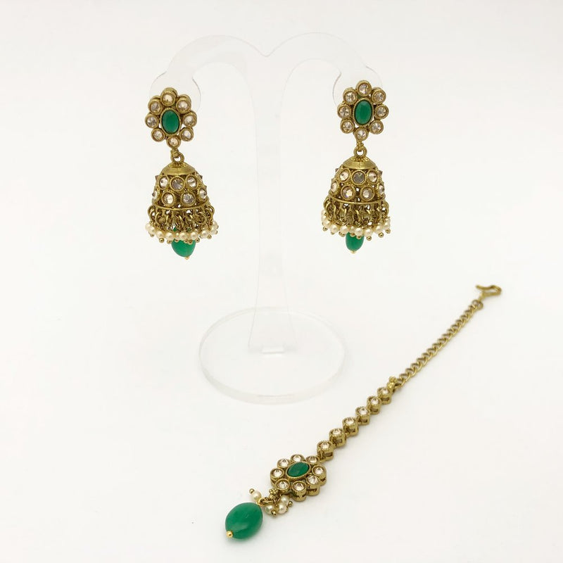 Green Necklace Set with Drop