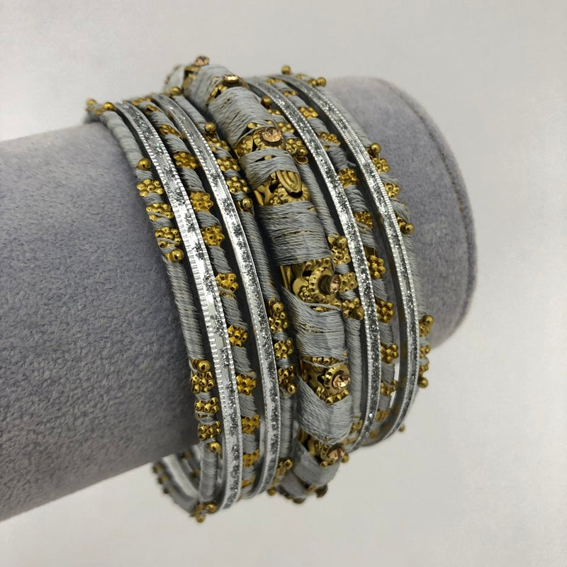 Grey Thread Bangle Set