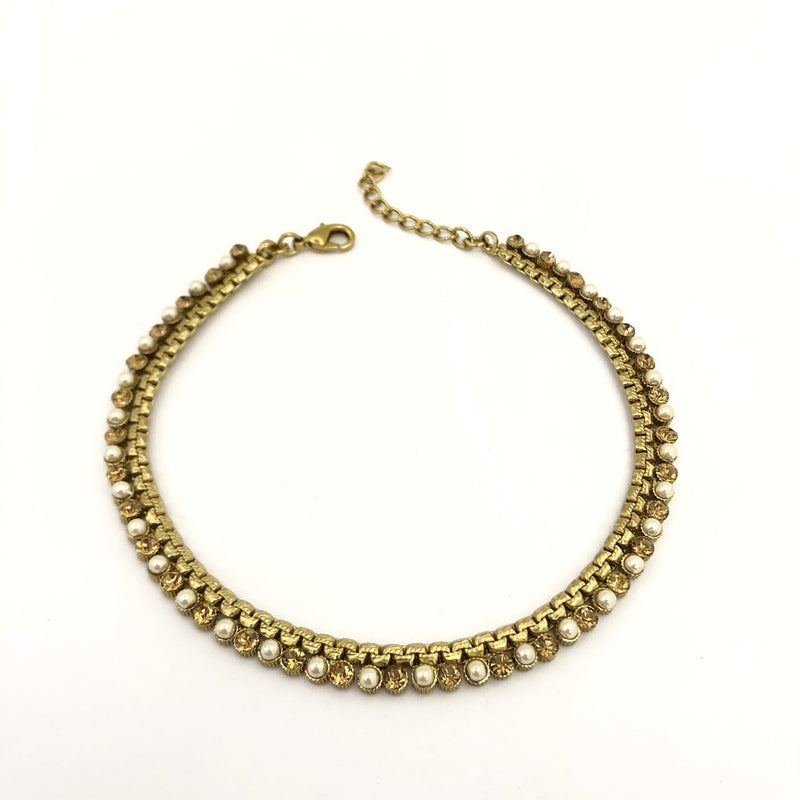 Pearl & Champagne Anklet / Necklace
