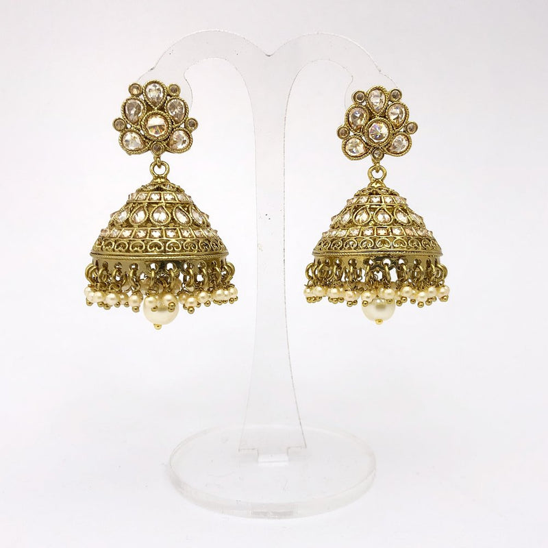 Antique Gold Jhumka Earrings