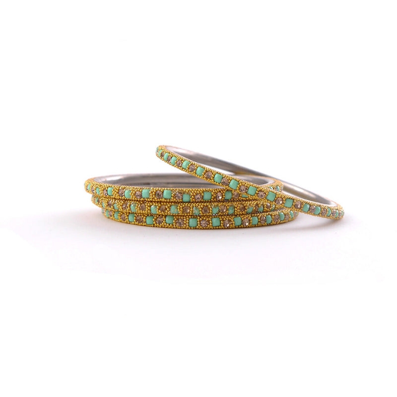 Mint Lakh Bangle Set