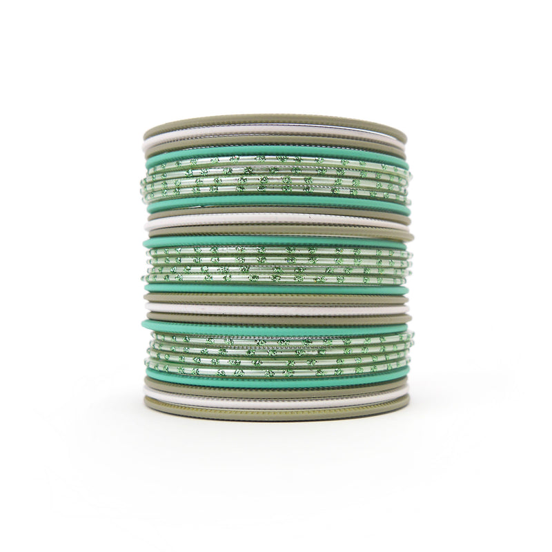 Rhodes Green Bangle Set