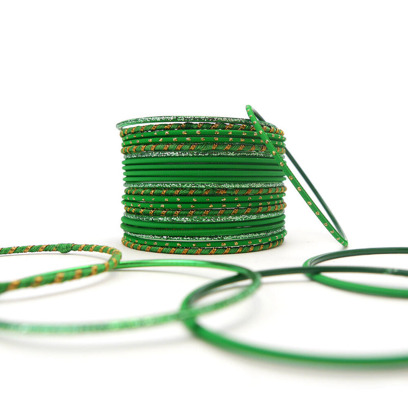 Forest Green Bangle Set