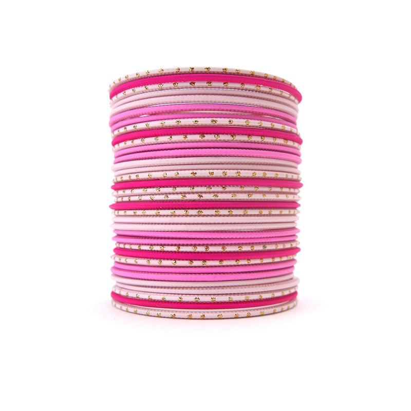Riviera Pink Bangle Set