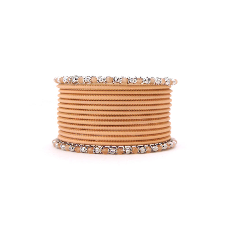 No Drama Bangle Set in Light Peach