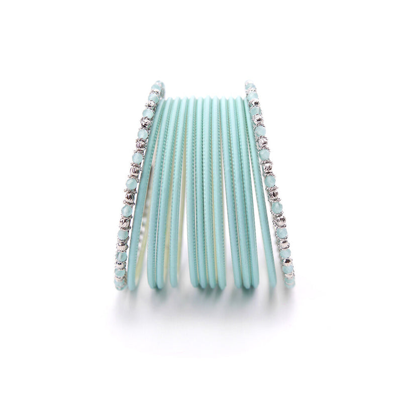 No Drama Bangle Set in Light Blue