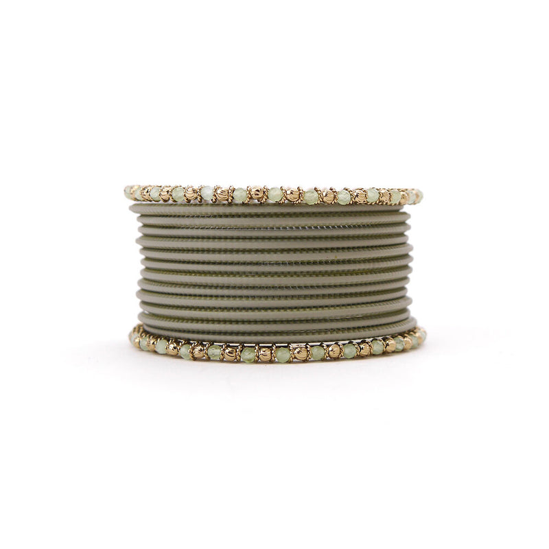 No Drama Bangle Set in Forest Green