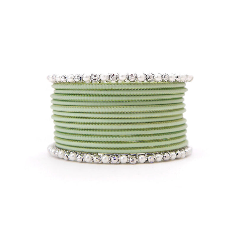 No Drama Bangle Set in Pistachio