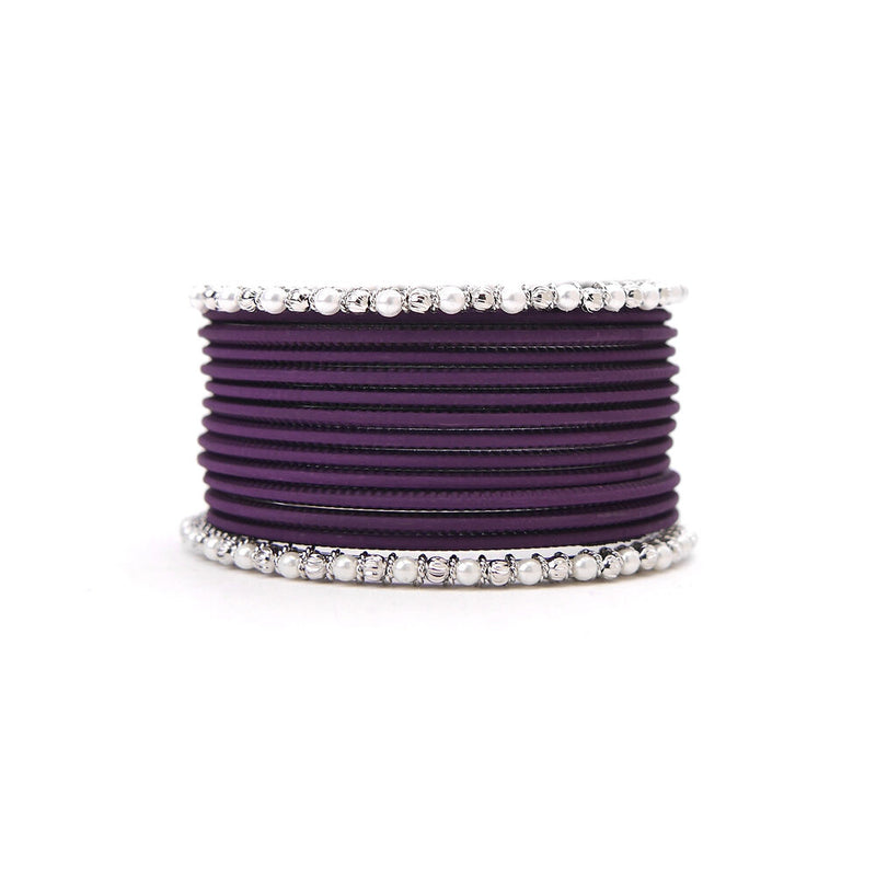 No Drama Bangle Set in Deep Purple