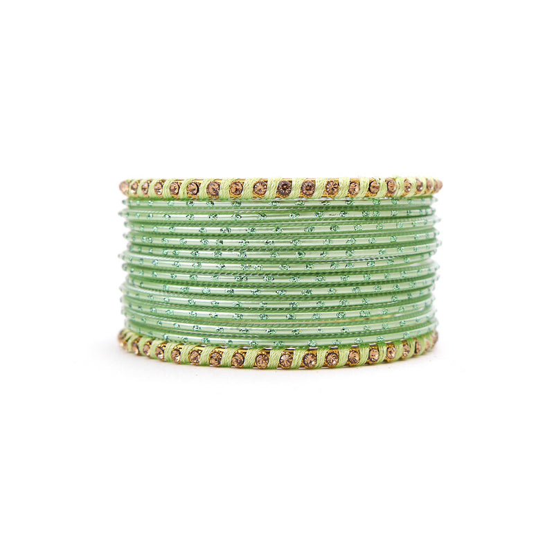 No Drama Bangle Set in Mint