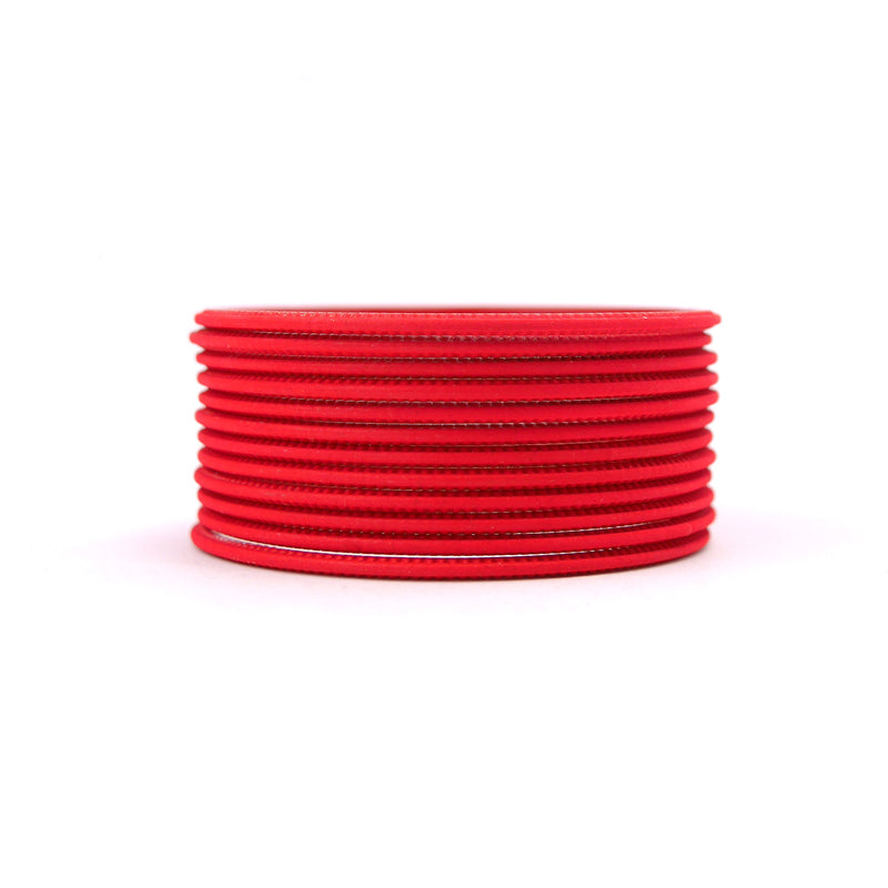 Lava Red Plain Bangles