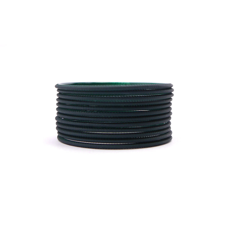 Dark Green Plain Bangles