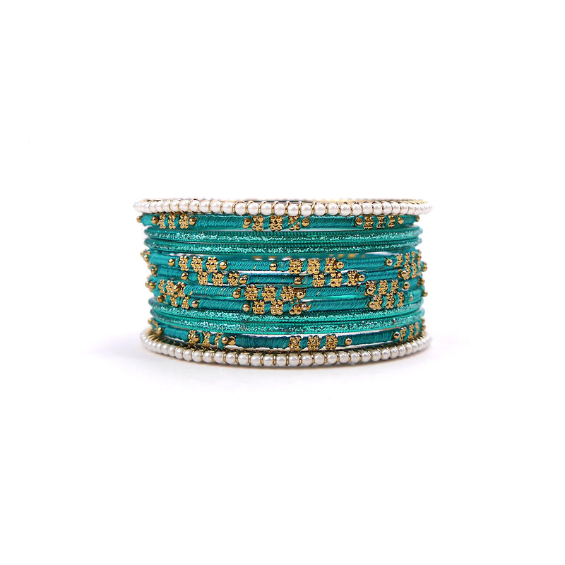 Pretty in Pearl Bangle Set in Jade