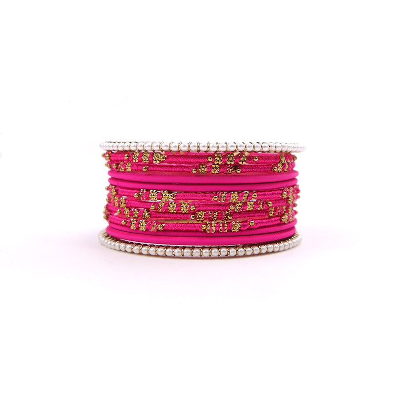 Pretty in Pearl Bangle Set in Pink