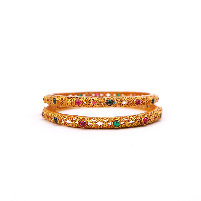 Roop Multi Bangles in Gold