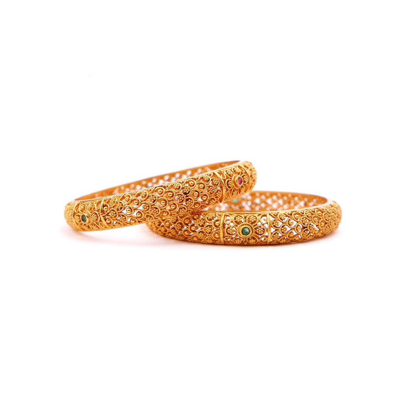 Regal Filigree Bangles in Multi