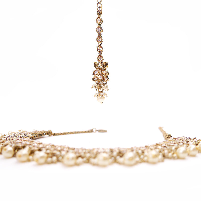 Lotus Pearl Necklace Set
