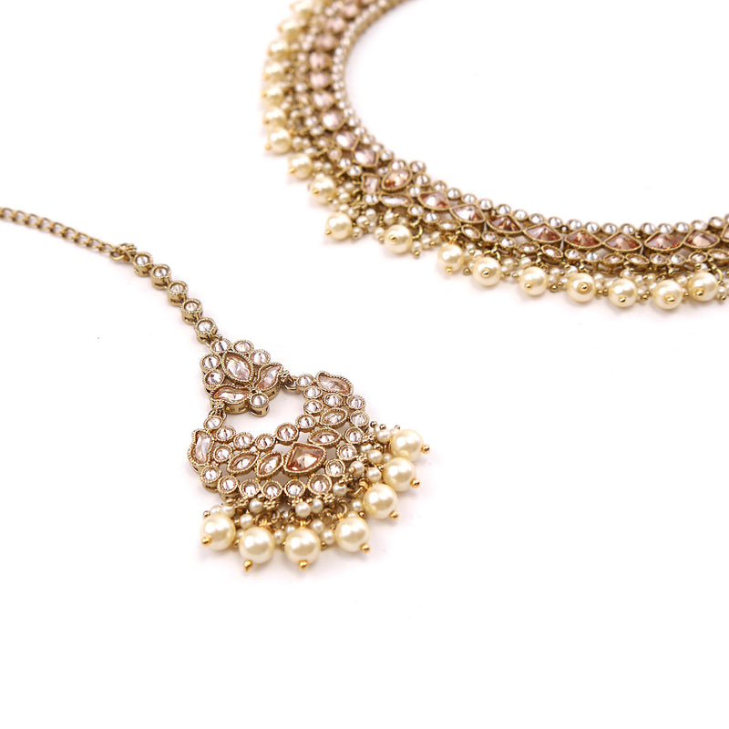 Mila Necklace Set in Champagne