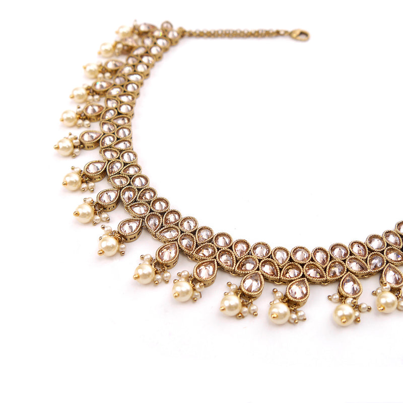 Damini Necklace Set in Champagne