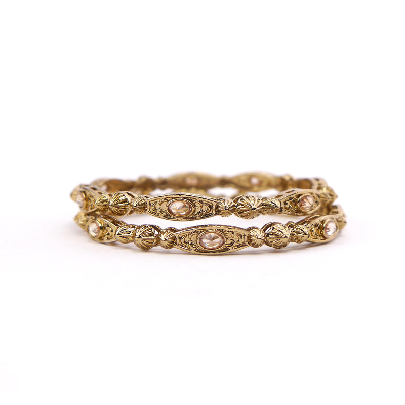 Asha Diamond Cut Antique Bangles