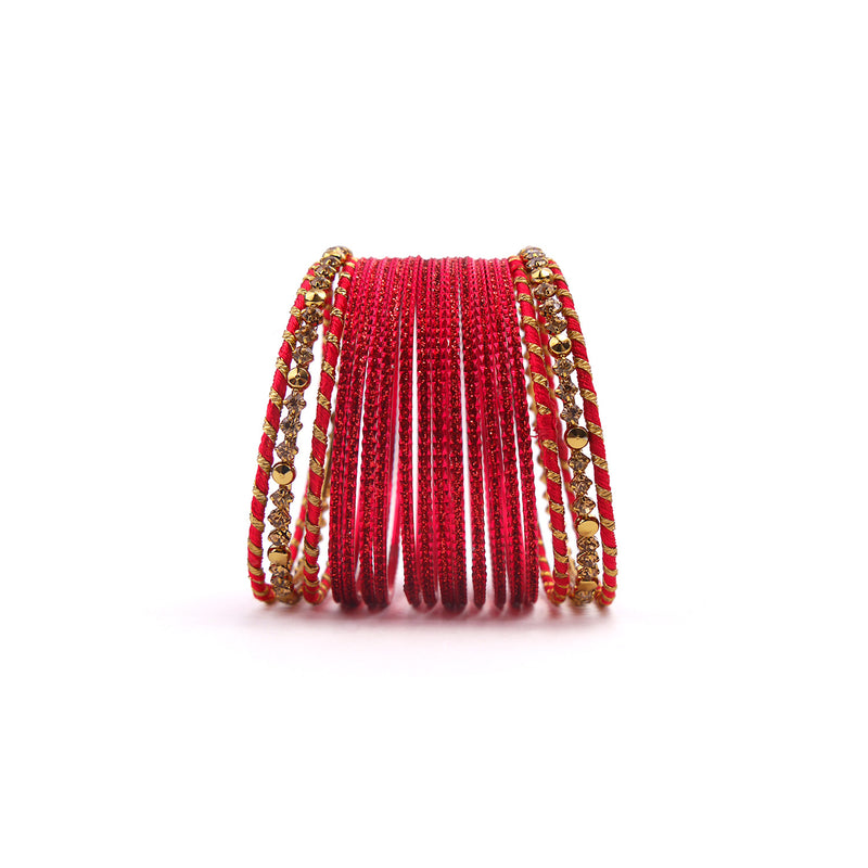 Stay Classy Bangle Set in Red