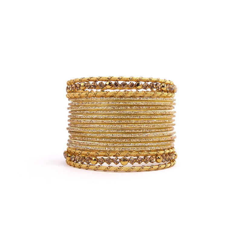 Stay Classy Bangle Set in Gold