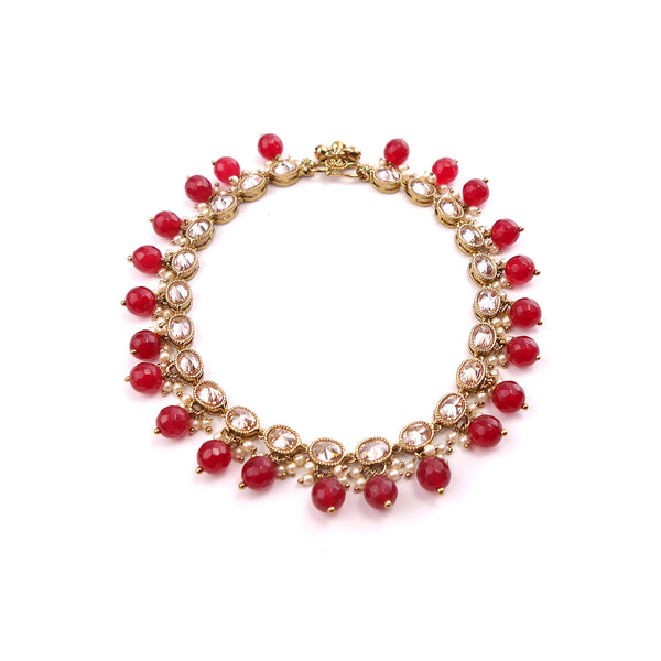 Oval Ruby Anklet