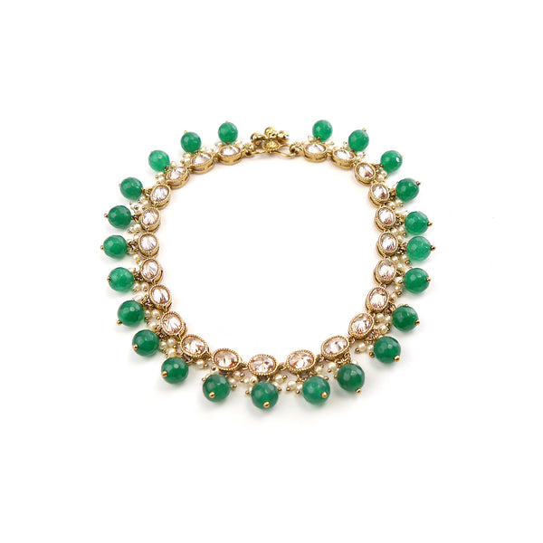 Oval Emerald Anklet