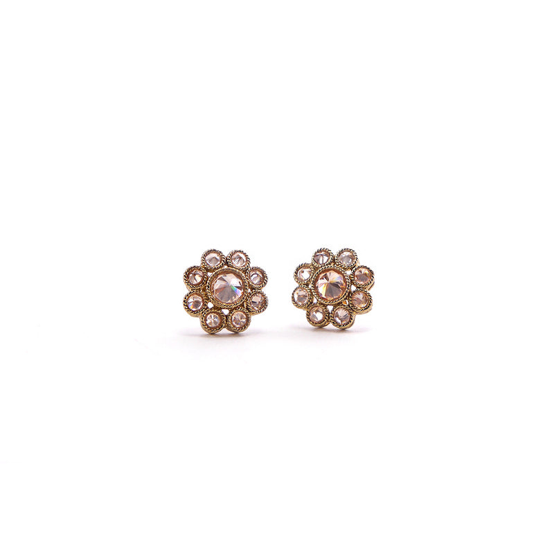 Daisy Studs in Antique Gold