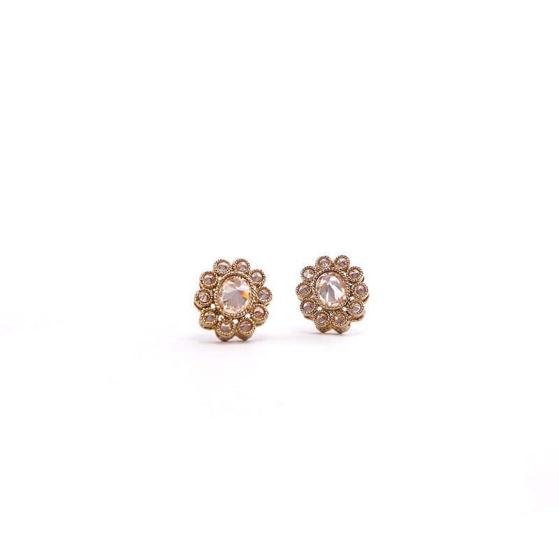 Anmol Champagne Ear Studs