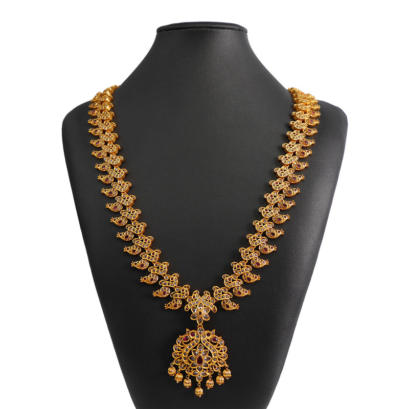 Meenakshi Classic Gold Necklace Set