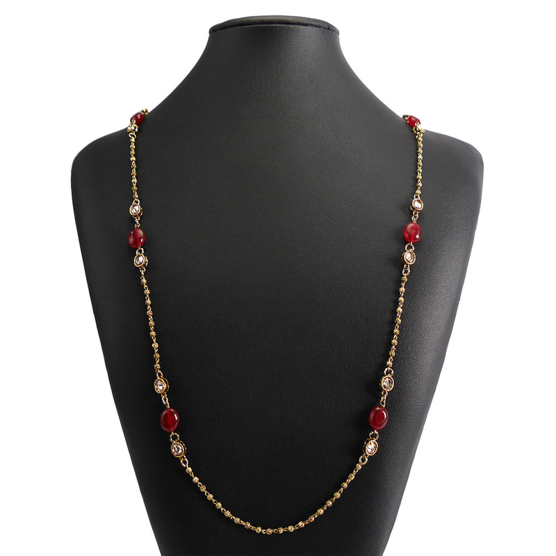 Ivy Long Chain in Maroon