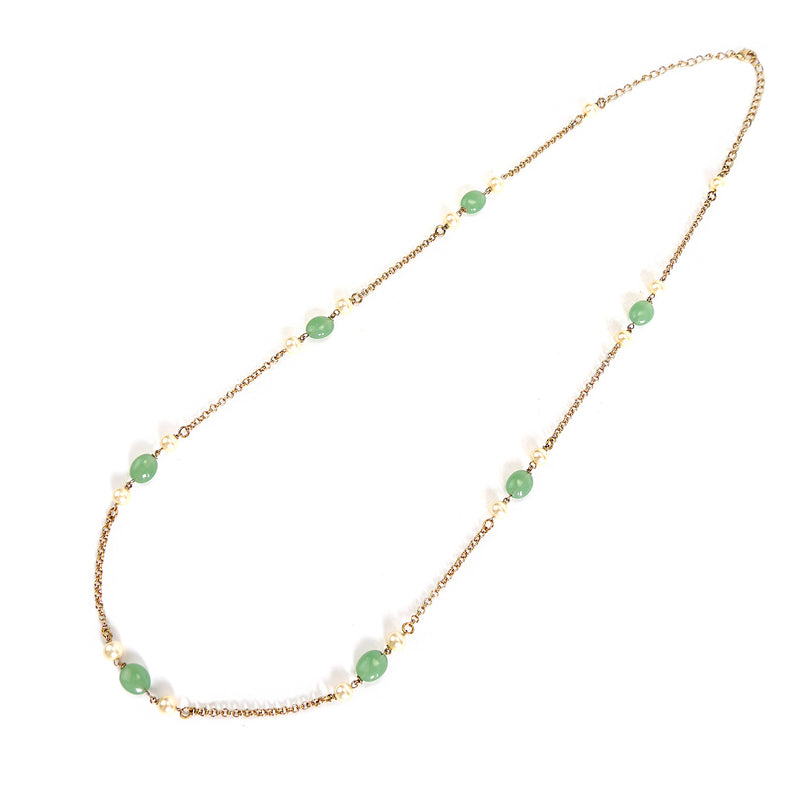 Mint Green and Pearl Long Chain