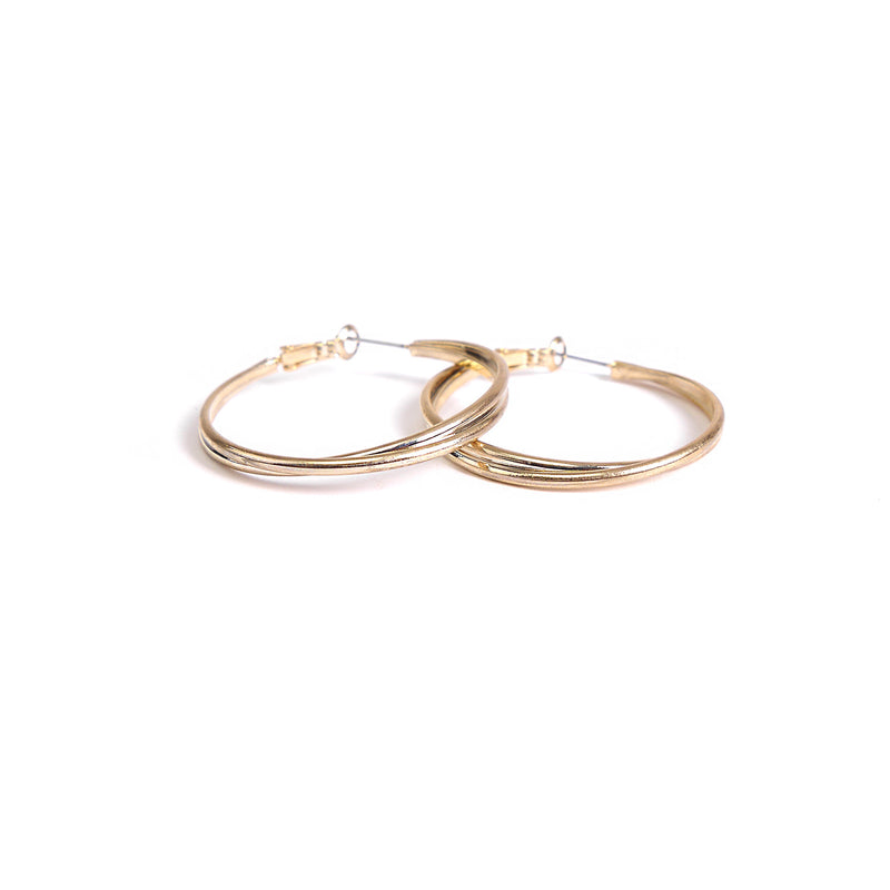 Swirl Small Hoops in Gold