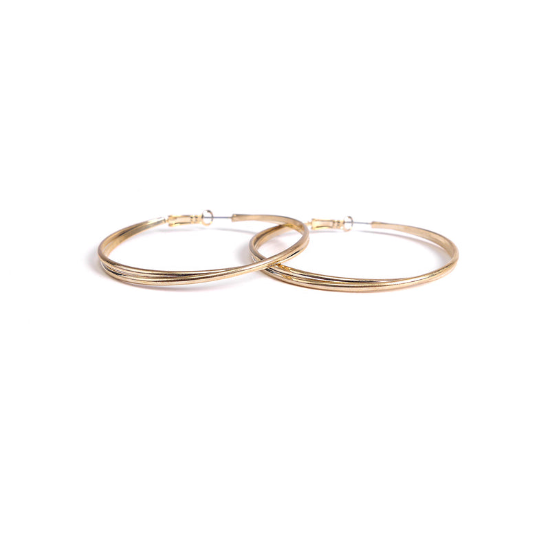 Swirl Hoops in Gold