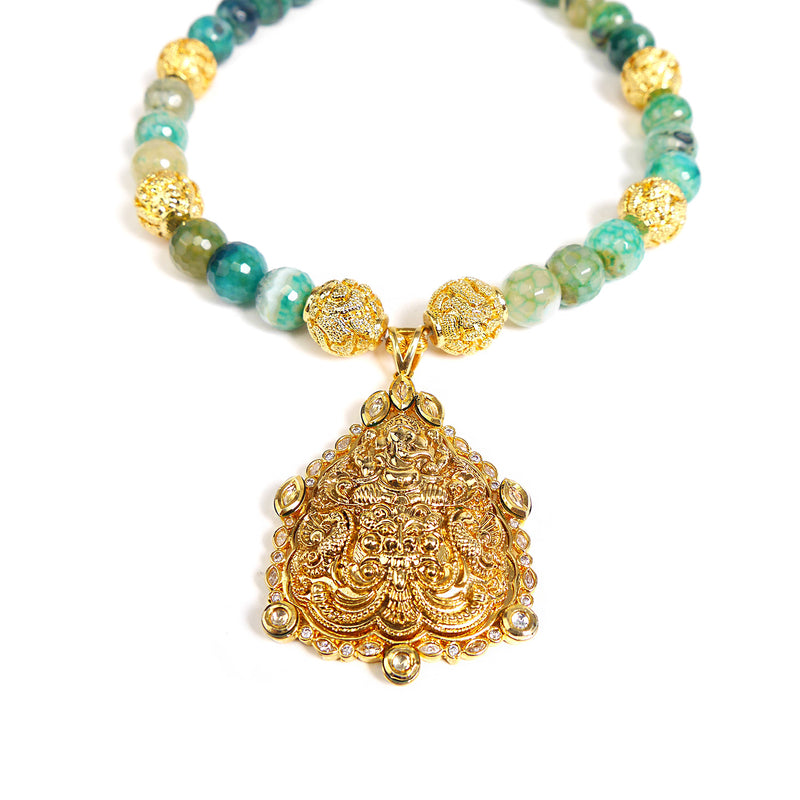 Ganesh Necklace in Agate